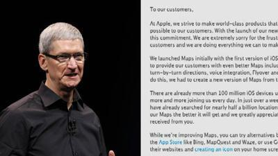 Apple CEO: Sorry about Maps, use Google
