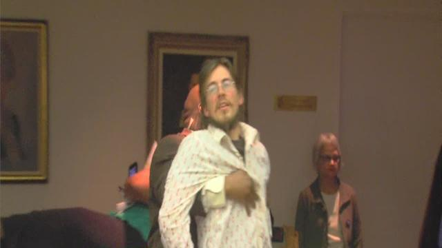 Protesters at Detroit City Council meeting