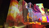 Behind the scenes of Six Flag Great America`s new high tech night show