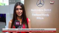Miss Berlin Klaudia Kojouharova auf der Fashion Week