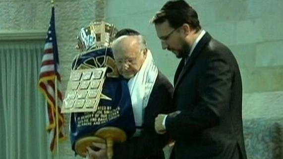 80-Year-Old Holocaust Survivor Celebrates Bar Mitzvah