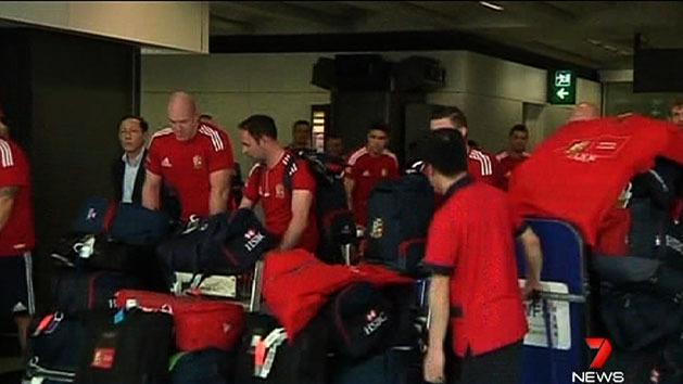 British Lions arrive in Hong Kong