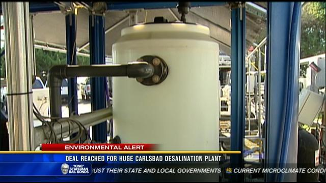 Deal reached for huge Carlsbad desalination plant