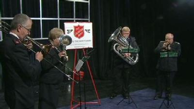 Salvation Army Band Plays Joy To The World