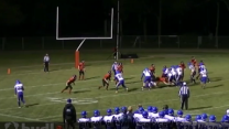High school lineman pulls off unique interception
