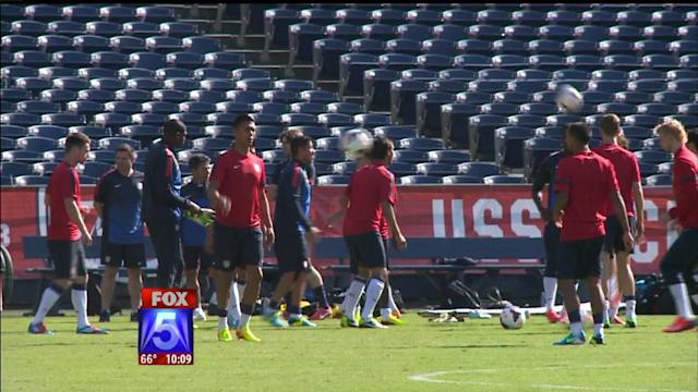 U.S. Soccer Hosts A Training Session At Qualcomm
