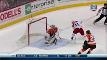 Nathan Gerbe goes between-the-legs to score