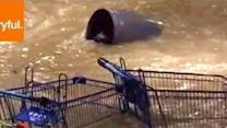 Heavy Flood Bursts Into Queensland Mall