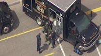 Detroit police bomb squad at Ford Field