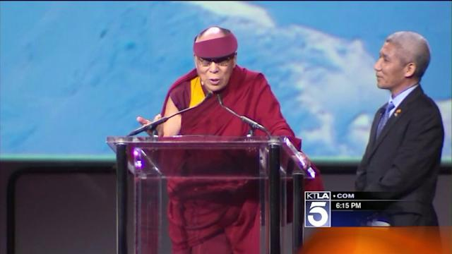 Thousands Attend Visit by Dalai Lama in Inglewood