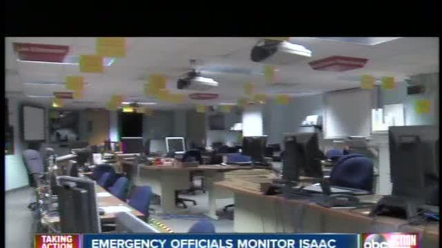 Pinellas EOC officials closely monitor Tropical Storm Isaac