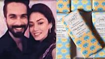 Shahid-Mira Wedding: Customized chocolate bars for the guests!