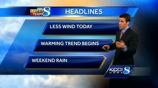 Video-Cast: Warmer with showers ahead