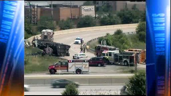 1 injured in crash on I-76 near King of Prussia Mall