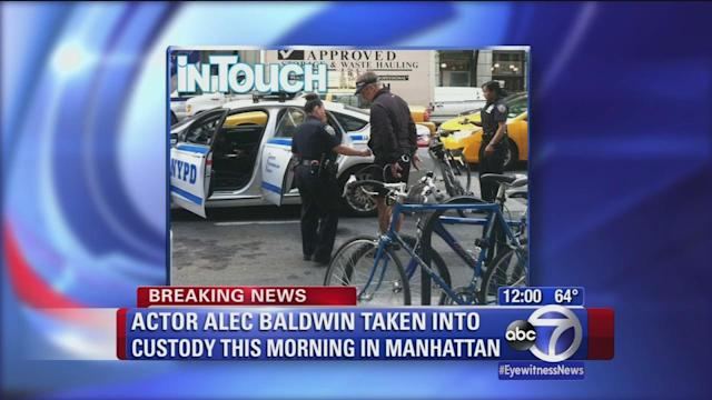 Alec Baldwin taken into custody in NYC