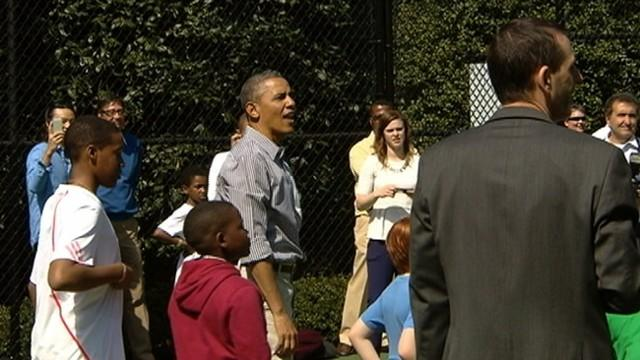 President Obama's Rough Day on Basketball Court