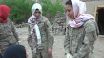 Female troops reach out to Afghan women