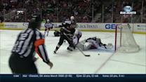 Bobrovsky falls back and steals away a goal