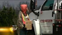 Protest held over panhandling changes