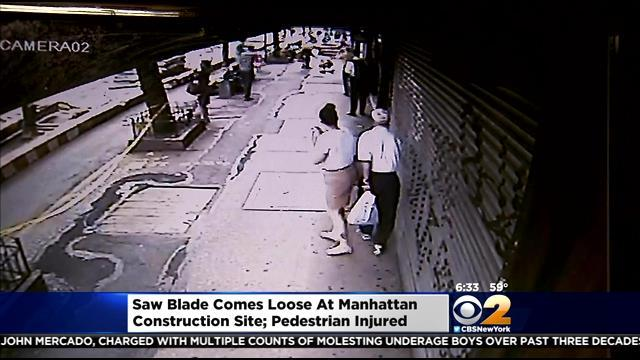 Work Halted At Manhattan Construction Site After Saw Blade Comes Loose, Hits Pedestrian