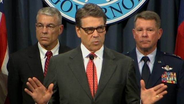 Texas Goveronor Perry activates National Guard for border security