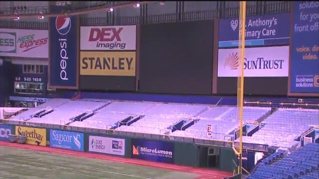 Renovations planned for Tampa Bay Rays stadium Tropicana Field