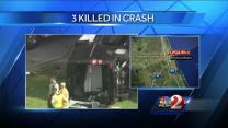 Children among 3 dead in I-95 crash
