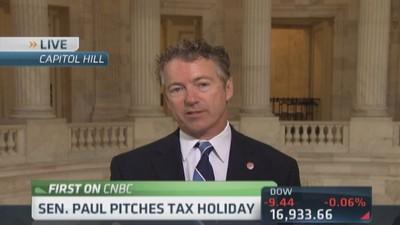 Sen. Rand Paul pitches tax holiday