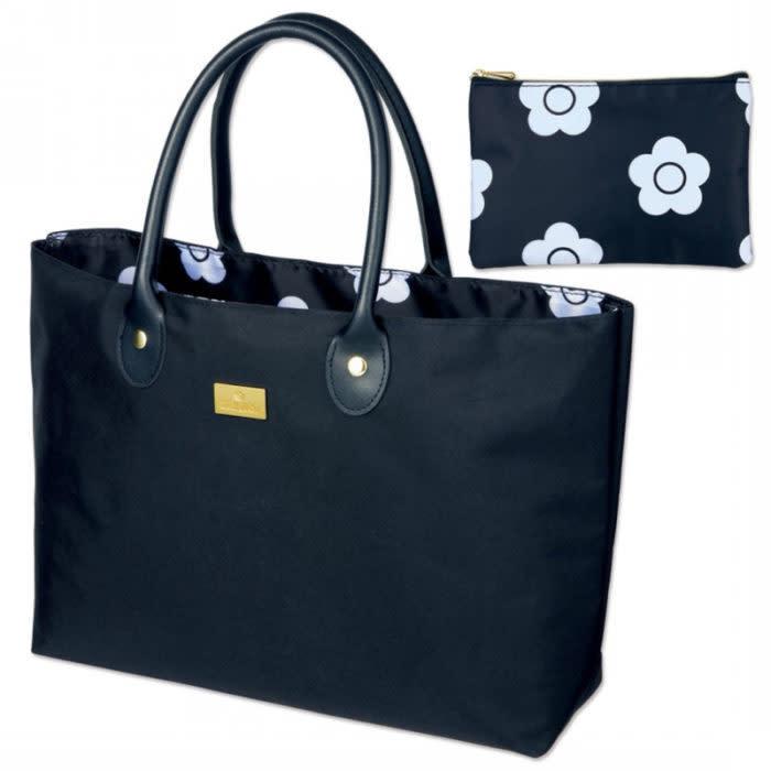 MARY QUANT特製豪華時髦托特包&雛菊花朵收納小包