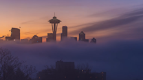 Colors Illuminate Seattle Skies in Magical Sunrise Timelapse