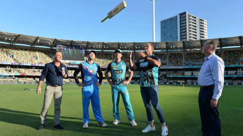 Bat flip replaced coin toss to mark the beginning of a BBL game