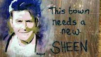 "Gov't Deems Charlie Sheen Graffiti ""Too Political"""