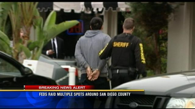 Feds raide multiple spots around San Diego County