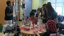 Pediatric patients get spa day at children's hospital