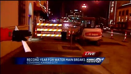 Broken record: KC sets new mark for water main breaks