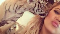 Khloe Kardashian's Tiger Cub Pic Causes Another Selfie Controversy