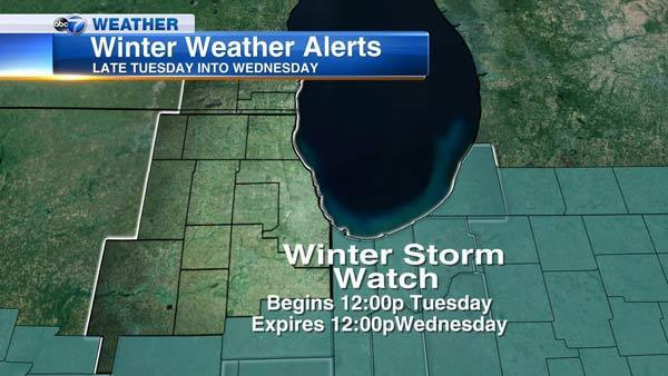 Chicago Weather: Cold followed by Winter Storm Watch for Indiana, Illinois