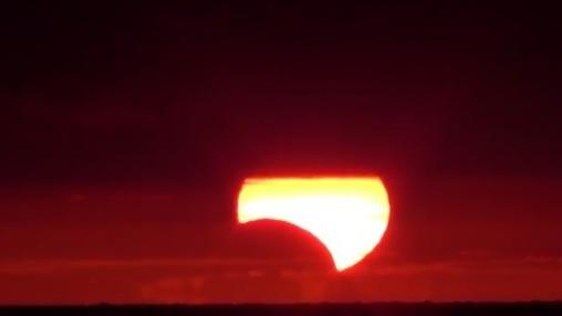 Solar Eclipse Viewed from Key West