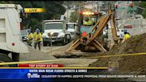 Water main break floods homes, streets in Point Loma