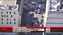 San Francisco Police Chase Ends In Multiple Car Pileup