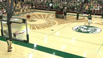 Half-court shot pays for freshman's tuition