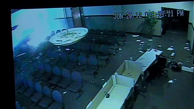 Car into council chambers