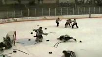 """Hockey brawl or """"Party in the USA?"""""""