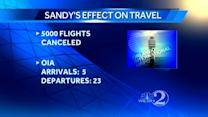 Flights canceled at Orlando airport due to Sandy