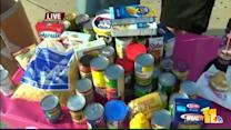 Ava helps Md. Food Bank collect donations