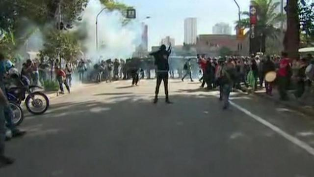Group clashes with police in World Cup protest