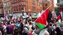 Thousands of Protesters Call for End to Israeli Attacks in Gaza