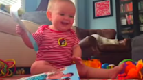 Baby Bursts Into Contagious Laughter When Page Rips Out