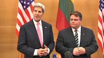 "Kerry welcomes ""strong"" EU statement on Syria after Lithuania meeting"