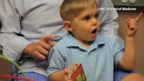 Special device helps deaf toddler hear for first time